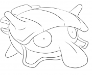 Printable 090 shellder pokemon coloring pages