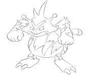 103 exeggutor pokemon coloring pages