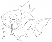 Printable 129 magikarp pokemon coloring pages