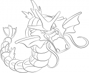 Printable 130 gyarados pokemon coloring pages
