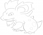 Printable 030 nidorina pokemon coloring pages