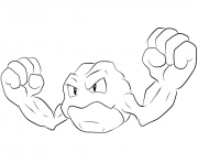 Printable 074 geodude pokemon coloring pages