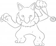 Printable 097 hypno pokemon coloring pages
