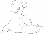 Printable 131 lapras pokemon coloring pages