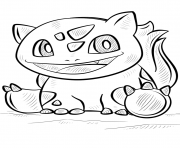 Printable bulbasaur pokemon go coloring pages