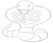 Printable 024 arbok pokemon coloring pages