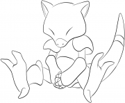 Printable 063 abra pokemon coloring pages