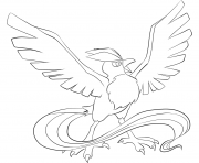 Printable 144 articuno pokemon coloring pages