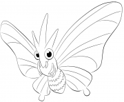 Printable 049 venomoth pokemon coloring pages