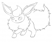 Printable 136 flareon pokemon coloring pages