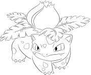 Printable 002 ivysaur pokemon coloring pages