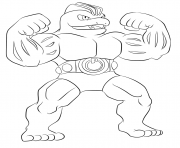 Printable 067 machoke pokemon coloring pages