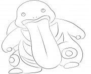 Printable 108 lickitung pokemon coloring pages