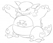 115 kangaskhan pokemon coloring pages