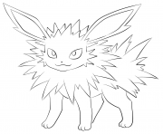 135 jolteon pokemon coloring pages