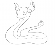 Printable 148 dragonair pokemon coloring pages