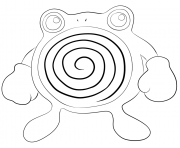 Printable 061 poliwhirl pokemon coloring pages