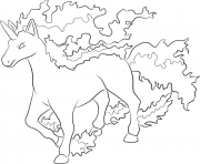 Printable 078 rapidash pokemon coloring pages