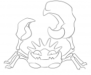 Printable 099 kingler pokemon coloring pages