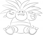 Printable 103 exeggutor pokemon coloring pages