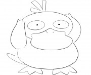 Printable 054 psyduck pokemon coloring pages