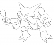 Printable 065 alakazam pokemon coloring pages