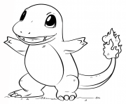 Printable charmander pokemon go coloring pages