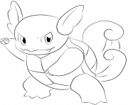 Printable 008 wartortel pokemon coloring pages