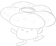Printable 045 vileplume pokemon coloring pages