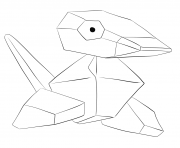 Printable 137 porygon pokemon coloring pages