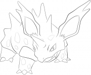 Printable 033 nidorino pokemon coloring pages