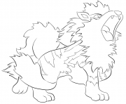 Printable 059 arcanine pokemon coloring pages