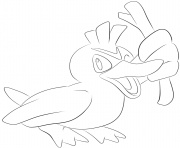 Printable 083 farfetchd pokemon coloring pages