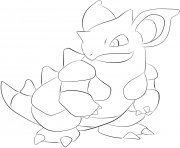 Printable 031 nidoqueen pokemon coloring pages