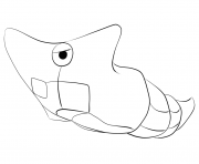 Print 011 metapod pokemon coloring pages