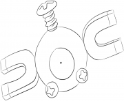 Printable 081 magnemite pokemon coloring pages