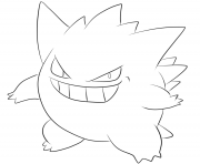 Printable 094 gengar pokemon coloring pages
