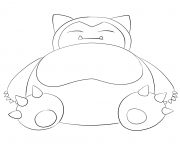 Printable 143 snorlax pokemon coloring pages
