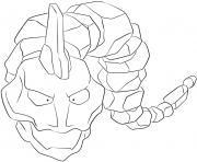 Printable 095 onix pokemon coloring pages