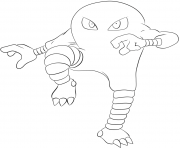Printable 106 hitmonlee pokemon coloring pages