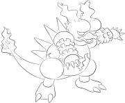 Printable 126 magmar pokemon coloring pages