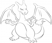 Printable 006 charizard pokemon coloring pages