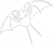 Printable 041 zubat pokemon coloring pages