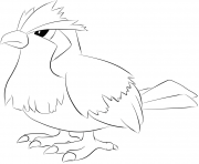 Printable 016 pidgey pokemon coloring pages