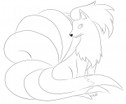 Print 038 ninetales pokemon coloring pages