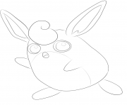 Printable 040 wigglytuff pokemon coloring pages