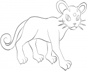 Printable 053 persian pokemon coloring pages