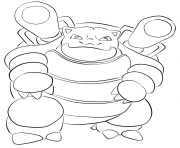 Printable 009 blastoise pokemon coloring pages