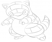 Printable 027 sandshrew pokemon coloring pages