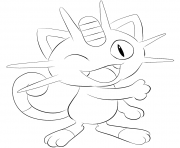 Printable 052 meowth pokemon coloring pages